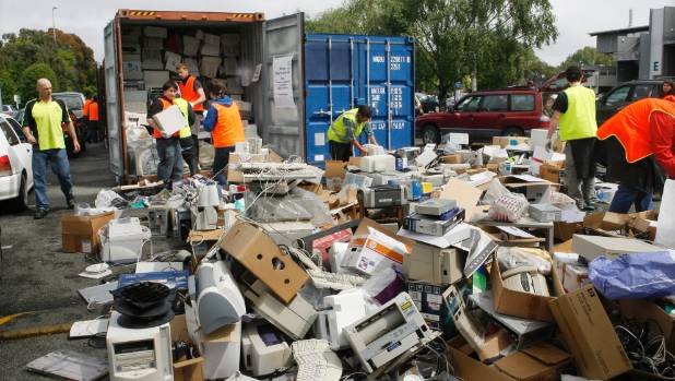 Hamilton E-Waste Collection by SWAT